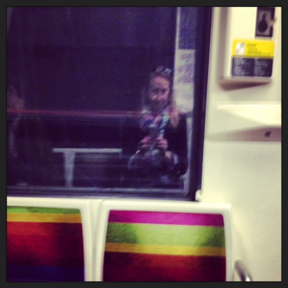 Selfie on the Metro