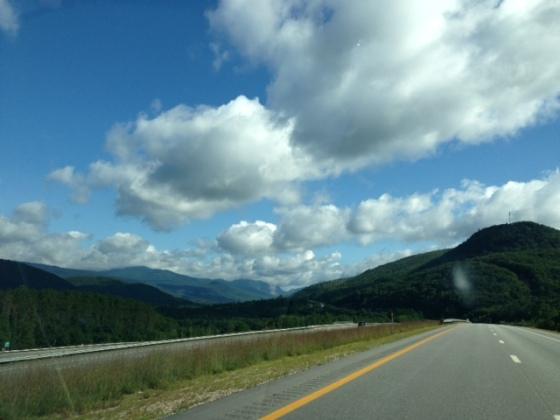 Speeding towards the White Mountains