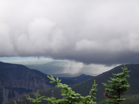 That rain was heading towards us.