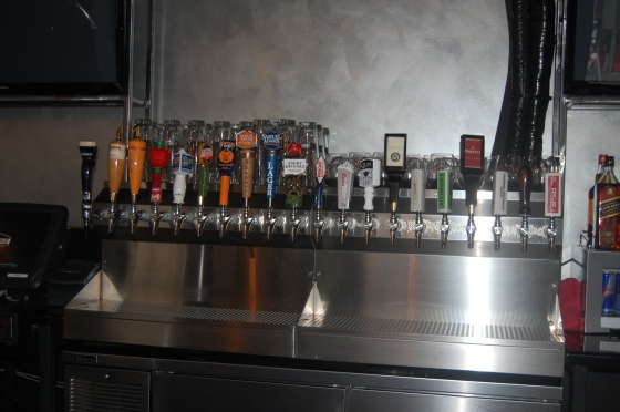 Warehouse's beer...and wine on tap