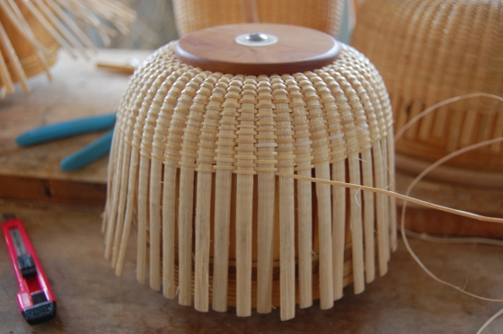 A basket on its mold