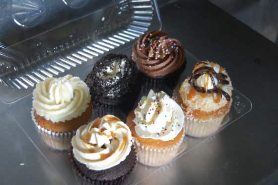 The Cupcakory's rotating menu includes cookies & cream, red velvet, slated caramel and a Samoa, a tribute to the Girl Scout Cookie