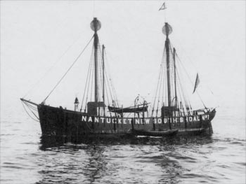 A Lightship (Photo courtesy of the Nantucket Lightship Basket Museum)