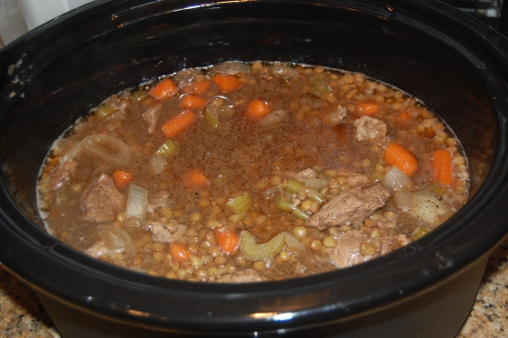 My yummy lamb and lentil stew
