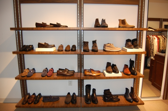 Part of our shoe wall