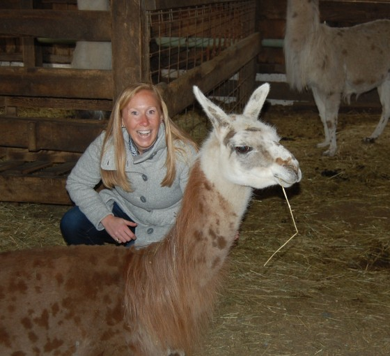 I don't know who's more excited me or the llama