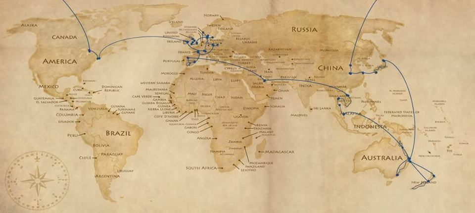 How to travel around the world the great wide open trip map gumiabroncs Choice Image